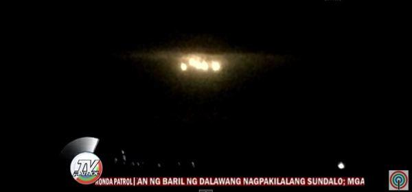 luzes no céu da Filipinas