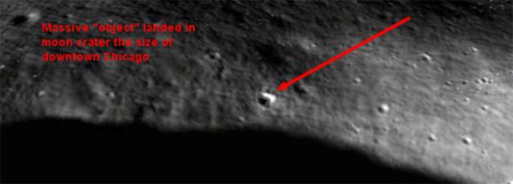 enorme objeto pousou na lua