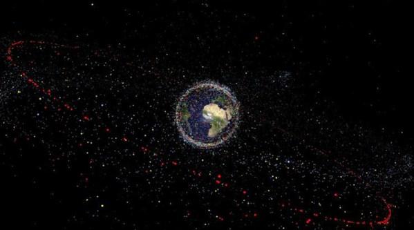 lixo espacial ao redor do planeta