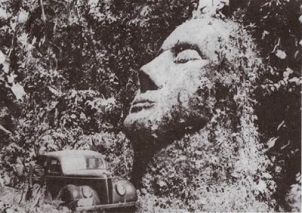 Cabeça de pedra da Guatemala 2