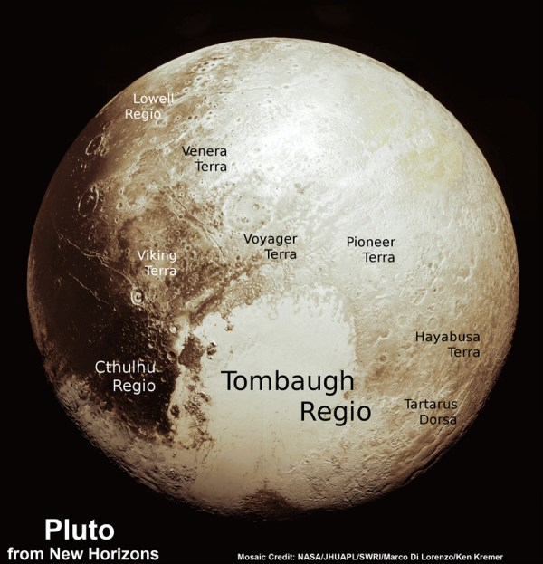 Plutão, por New Horizons - NASA