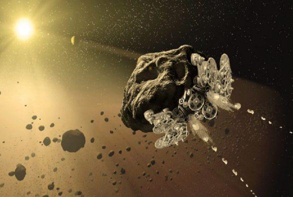 asteroide transformado em nave