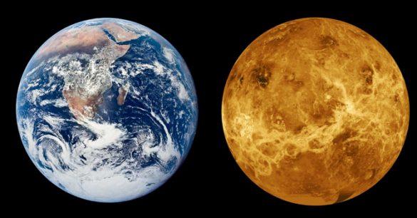 NASA quer enviar humanos até Vênus – Veja porque esta é um ótima ideia Venus-Terra-585x306