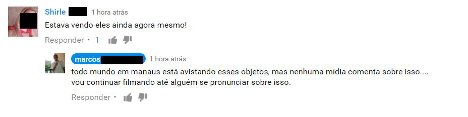 OVNIs são avistados em Manaus por várias pessoas 1