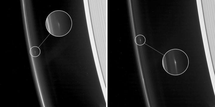 objetos misteriosos nos anéis de Saturno