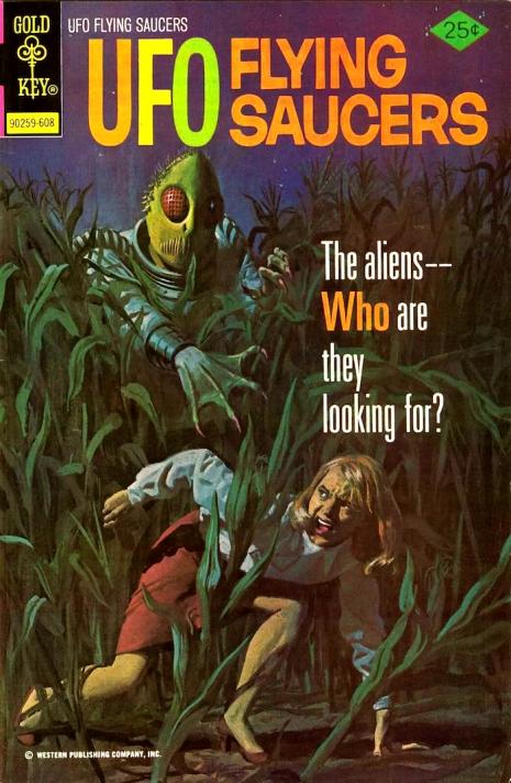 Capas fantásticas de revistas sobre OVNIs nas décadas de 60 e 70 11