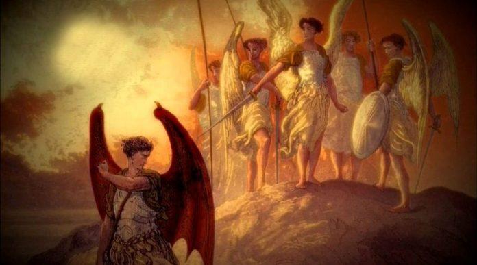 Armagedom lutado por alienígenas - anjos