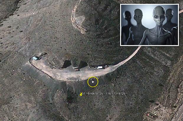 Entradas para o subterrâneo são encontradas na Área 51
