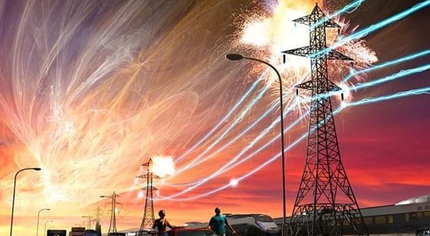 tempestade solar de grande magnitude
