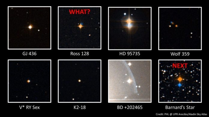 novos sinais vindos do espaço