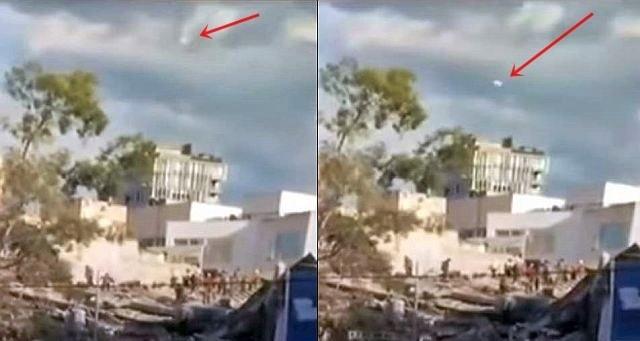 OVNI aparece em reportagem do terremoto