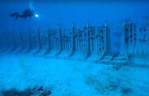 muro submarino que rodeia o planeta