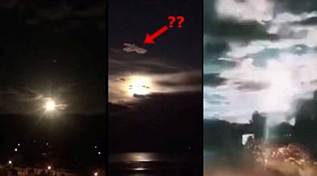 meteoro explode no céu da China