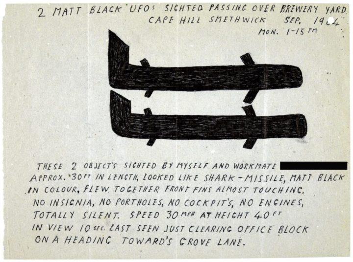 Desenhos de OVNIs são liberados pelo Ministério da Defesa do Reino Unido 2