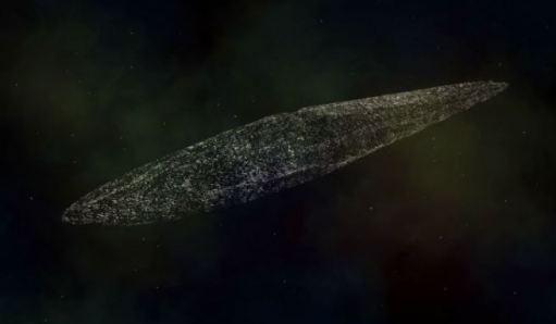 sonda alienígena está coberta de material orgânico