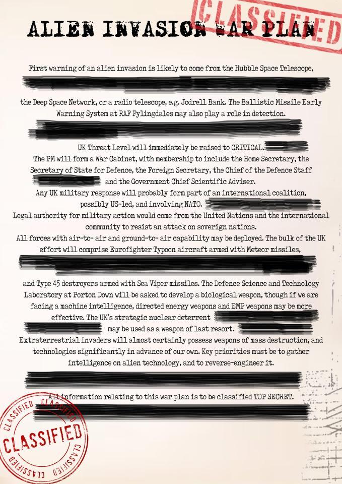 Plano contra invasão alienígena é revelado por ex-investigador do governo britânico 1