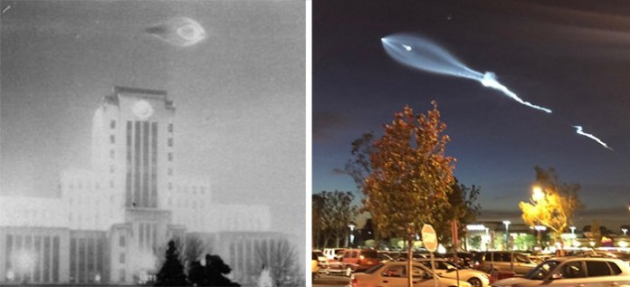 Foto de 1937 mostra algo similar ao lançamento do foguete da SpaceX