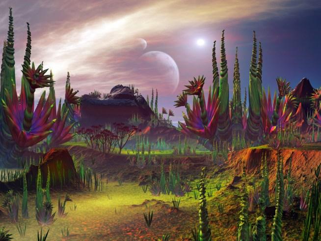 mundos com formas de vida estranhas
