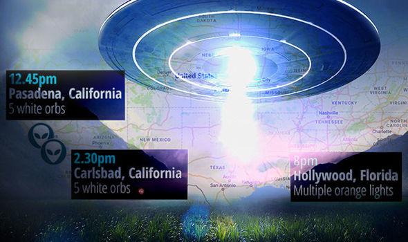 Múltiplos OVNIs são vistos no mesmo dia