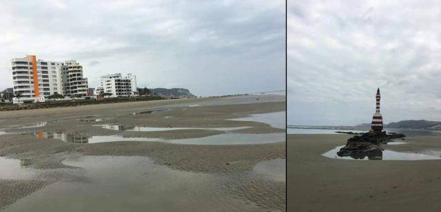 Mar recua no Equador e deixa habitantes receosos 1