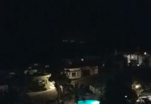 Luzes aparecem sobre Baja