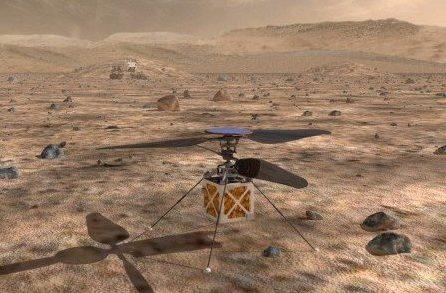 drone voador para Marte
