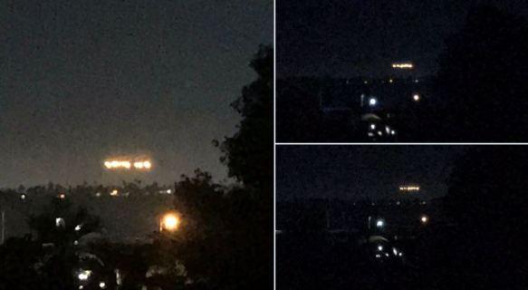 Luzes misteriosas aparecem sobre a cidade de San Diego,