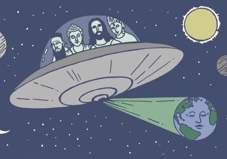 sua religião se confirmamos a vida extraterrestre
