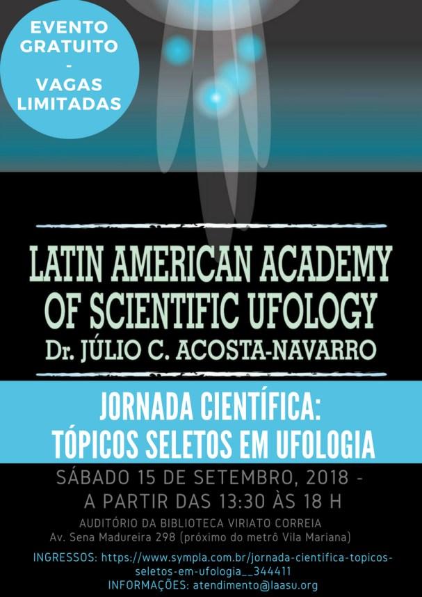 Jornada Científica: Tópicos Seletos em Ufologia.
