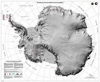 Novo mapa da Antártica em altíssima resolução