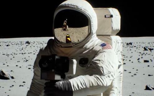 chegada do ser humano à Lua com tecnologia ray tracing