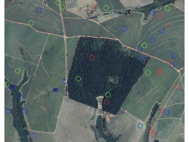 Imagem de satélite registra pontos brilhantes sobre o Brasil