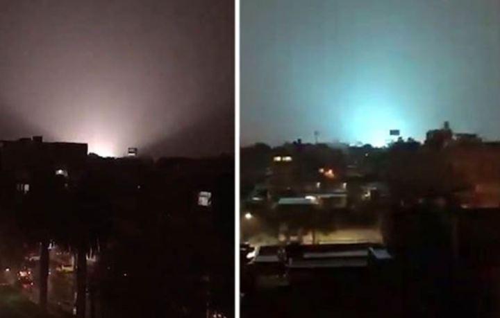 Céu da Cidade do México é iluminado por explosões no solo
