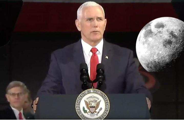 VP dos EUA quer que a NASA envie humanos à Lua o mais rápido possível