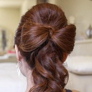 Как сделать бантик из волос своими руками