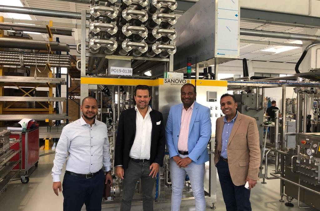 A Sanovo pasteuriser will soon be installed in West Africa.