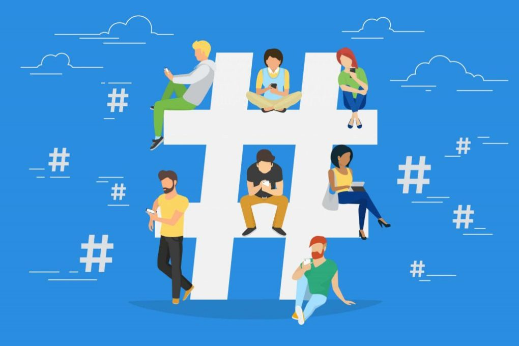 Influencers Focus on Hashtags