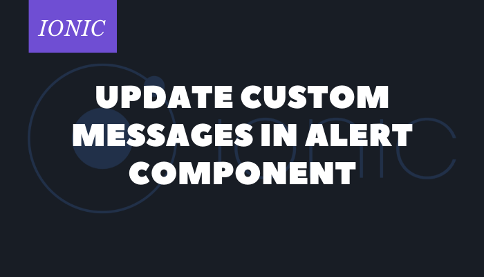 custom alert messages