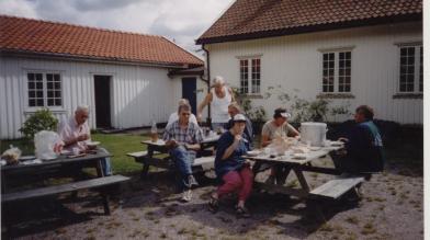 Heldigvis er det også tid for pauser: Søren Stredet, Lars A. Ilebekk, Tore Robstad, Olav Upsahl, Mari Bjerland, Brit Håverstad,Terje Langeland