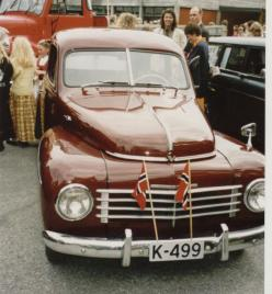 Helge Skuland`s Volvo PV 444. Han kjøpte bilen av Auen Mestad og har siden restaurert den til det smykke den er nå.