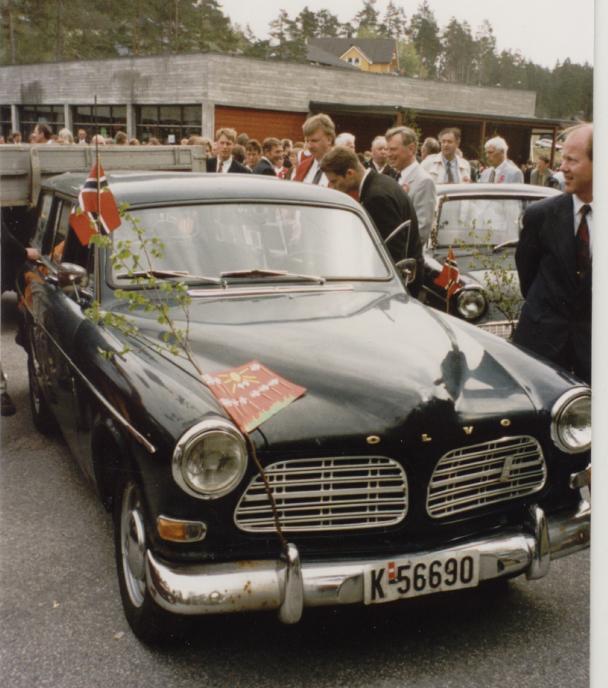 Magni Ivar Rokoengens Volvo Amazon Herregårdsvogn. Det var hans far, Martin Rokoengen, som kjøpte bilen som ny hos Trygve Ilebæk`s bilforretning i Kristiansand.