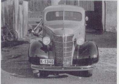 Karossserifabrikken laget ikke bare busser. Her en utgave av en Chevrolet varevogn fra 1938.