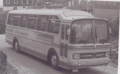 Førelands karosserifabrikk bygde mange busser på Mercedes Benz Chassi, denne er fra 1974.