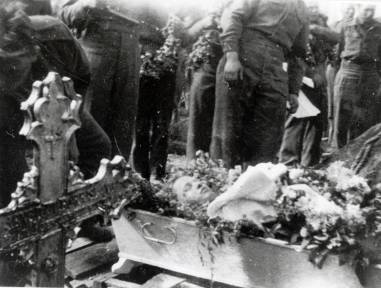Begravelse av russiksk krigsfange.