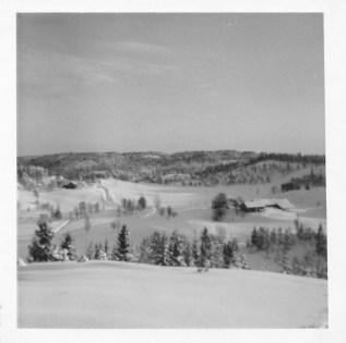 Oversiktsbilde Fjellestad snøvinteren 1966.