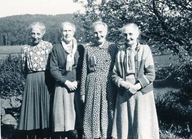 Fire søstre : Anna Bjorå, Dagny Eivindson, Inga Ilebekk, Ingrid Øvrebø