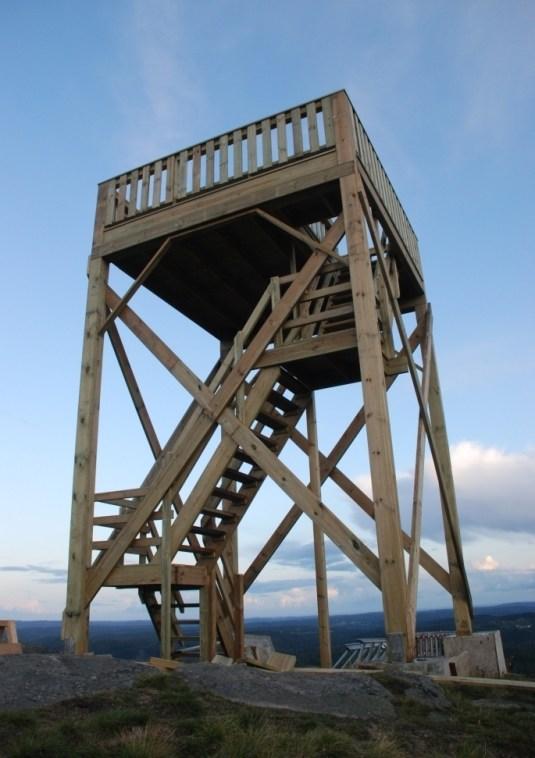 Det nye utkikkstårnet på Ropstadknuten, i samarbeid med Bringsverd leirskole / Thor Sangesland.