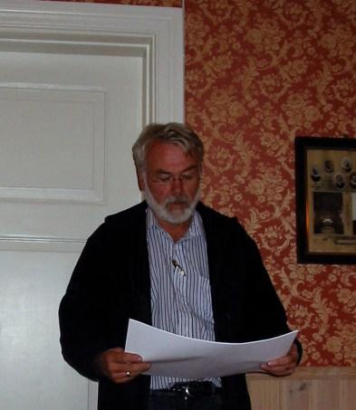 """Per Slettedal orienterte om fremtidsplanene for """"Fjøset"""" på Øvrebø Prestegård"""