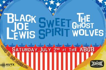 Sweet Spirit The Ghost Wolves Black Joe Lewis ABGB