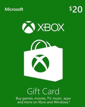 $20 Xbox Gift Card